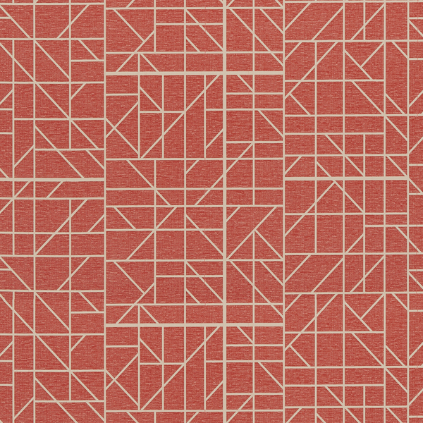 Vinyl Wall Covering Bolta Contract Balancing Act Steadfast Red