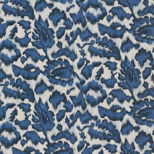 Vinyl Wall Covering Bolta Contract Ikat's Meow Indigo Ink
