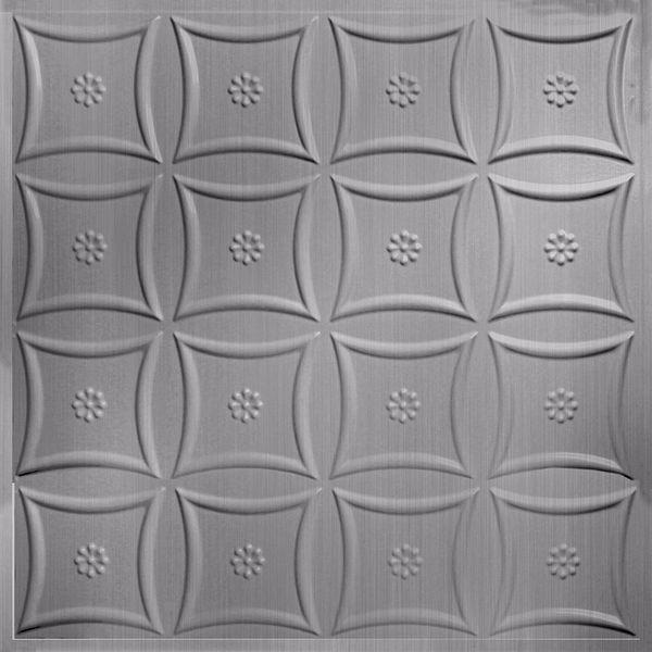 Vinyl Wall Covering Dimension Ceilings Starburst Ceiling Brushed Aluminum