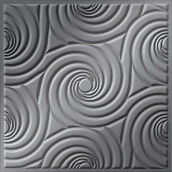Vinyl Wall Covering Dimension Ceilings Bouquet Ceiling Metallic Silver