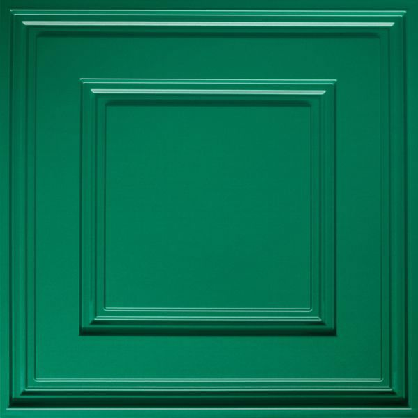 Vinyl Wall Covering Dimension Ceilings Cubed Ceiling Metallic Green