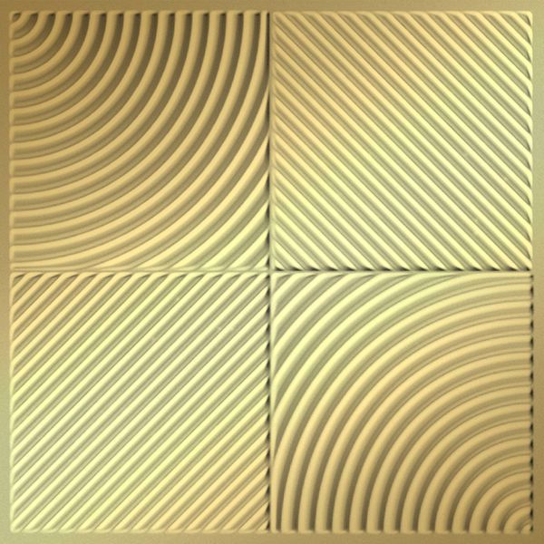 Vinyl Wall Covering Dimension Ceilings Mix 'n Match Ceiling Metallic Gold
