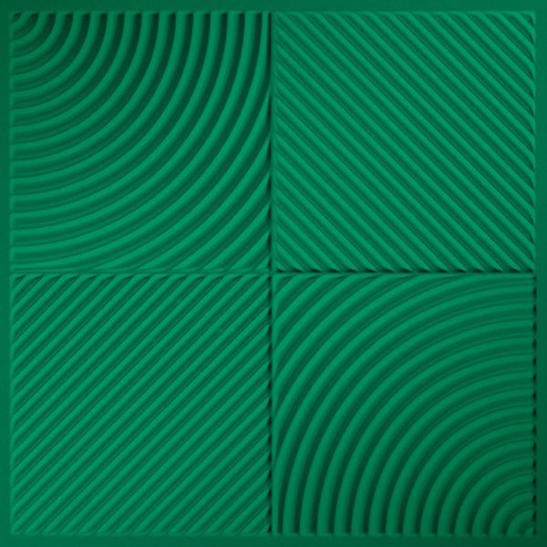 Vinyl Wall Covering Dimension Ceilings Mix 'n Match Ceiling Metallic Green