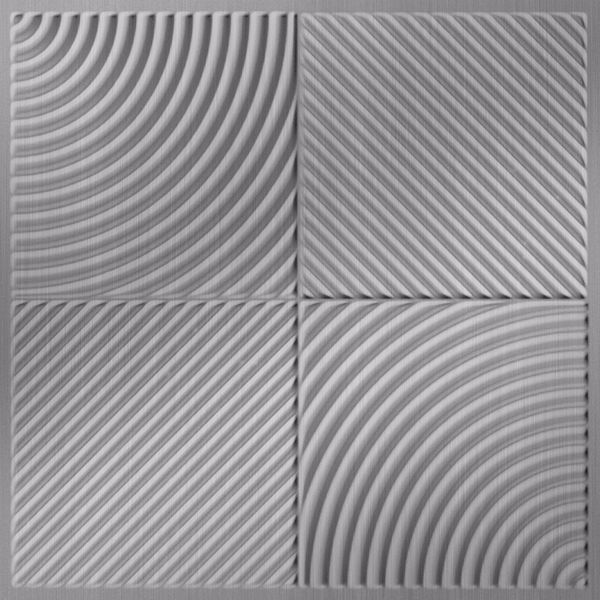 Vinyl Wall Covering Dimension Ceilings Mix 'n Match Ceiling Brushed Aluminum