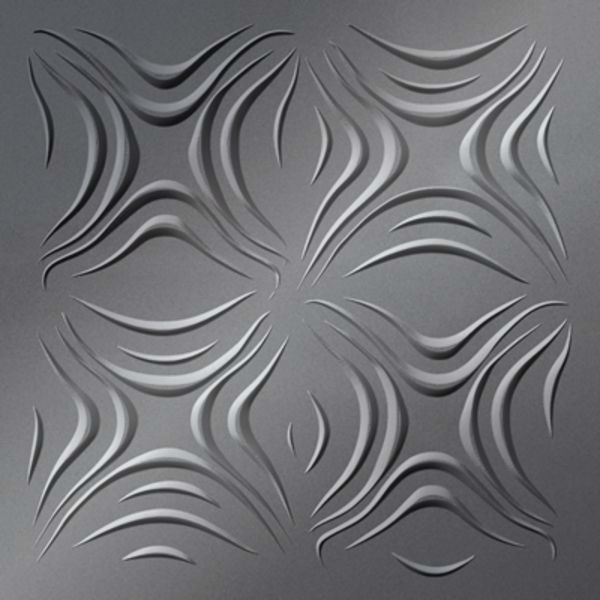 Vinyl Wall Covering Dimension Ceilings Blossom Ceiling Metallic Silver