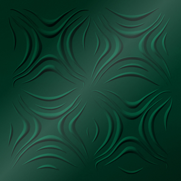 Vinyl Wall Covering Dimension Ceilings Blossom Ceiling Metallic Green