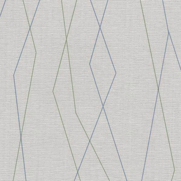 Vinyl Wall Covering Design Gallery Viva La Art Cliffhanger Blue-Green Beams