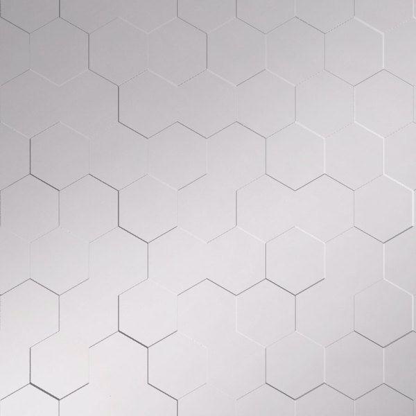 Vinyl Wall Covering Dimension Walls Honeycomb Metallic Silver