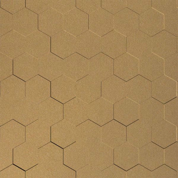 Vinyl Wall Covering Dimension Walls Honeycomb Gold