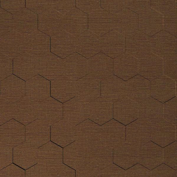 Vinyl Wall Covering Dimension Walls Honeycomb Linen Chestnut