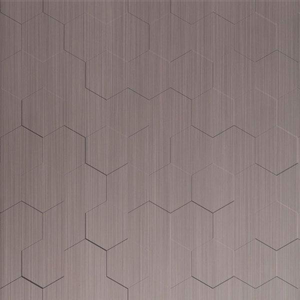 Vinyl Wall Covering Dimension Walls Honeycomb Brushed Nickel