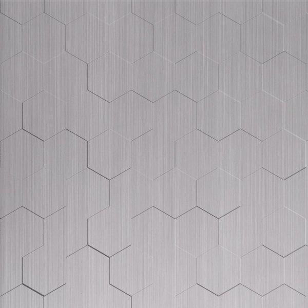 Vinyl Wall Covering Dimension Walls Honeycomb Brushed Aluminum
