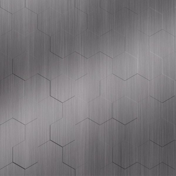 Vinyl Wall Covering Dimension Walls Honeycomb Brushed Stainless