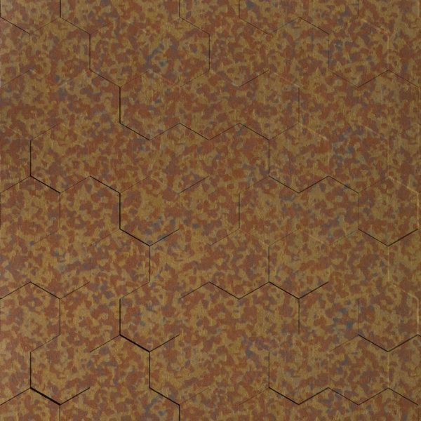 Vinyl Wall Covering Dimension Walls Honeycomb Aged Copper