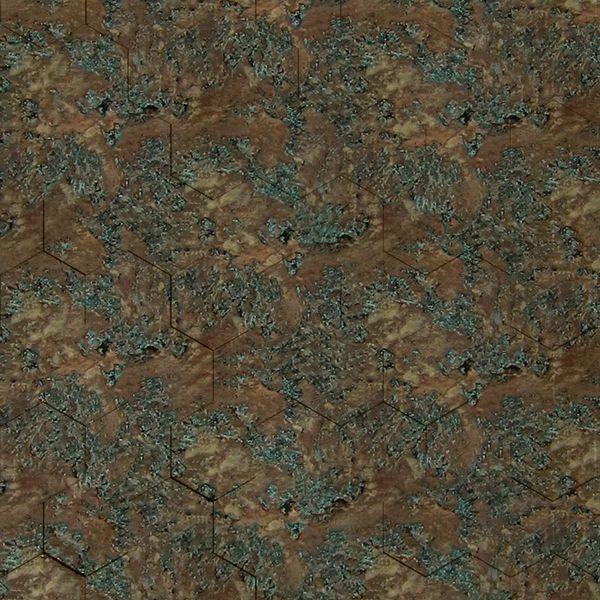 Vinyl Wall Covering Dimension Walls Honeycomb Copper Patina