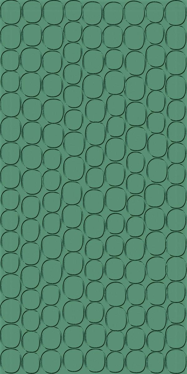 Vinyl Wall Covering Dimension Walls Elliptical Metallic Green