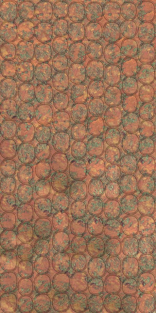 Vinyl Wall Covering Dimension Walls Elliptical Copper Patina