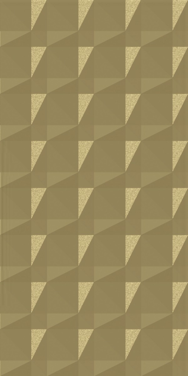 Vinyl Wall Covering Dimension Walls Faceted Metallic Gold