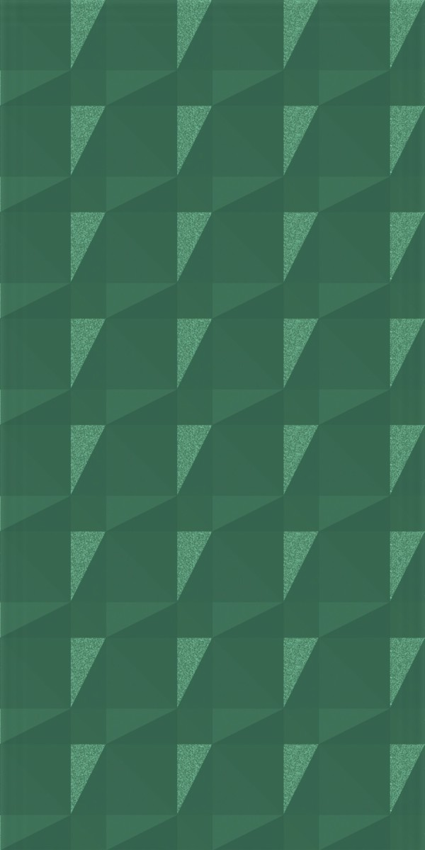 Vinyl Wall Covering Dimension Walls Faceted Metallic Green