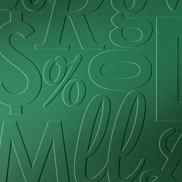 Dimensional Panels Dimension Walls Lingual Metallic Green