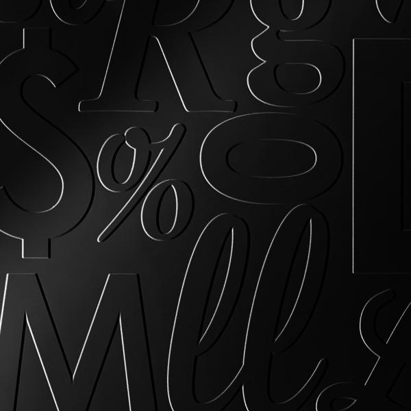 Dimensional Panels Dimension Walls Lingual Polished Ebony