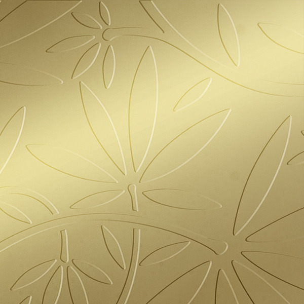 Vinyl Wall Covering Dimension Walls Floral Vine Metallic Gold