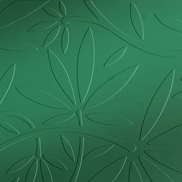 Vinyl Wall Covering Dimension Walls Floral Vine Metallic Green