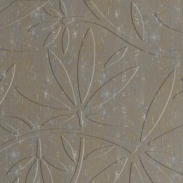 Vinyl Wall Covering Dimension Walls Floral Vine Crackle Patina