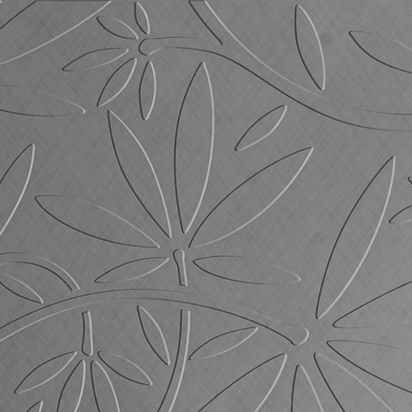 Vinyl Wall Covering Dimension Walls Floral Vine Silver Crosshatch