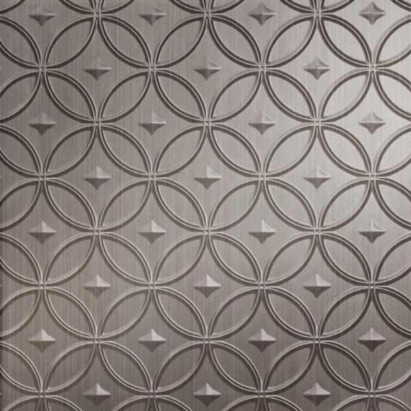 Vinyl Wall Covering Dimension Walls Stellar Brushed Nickel