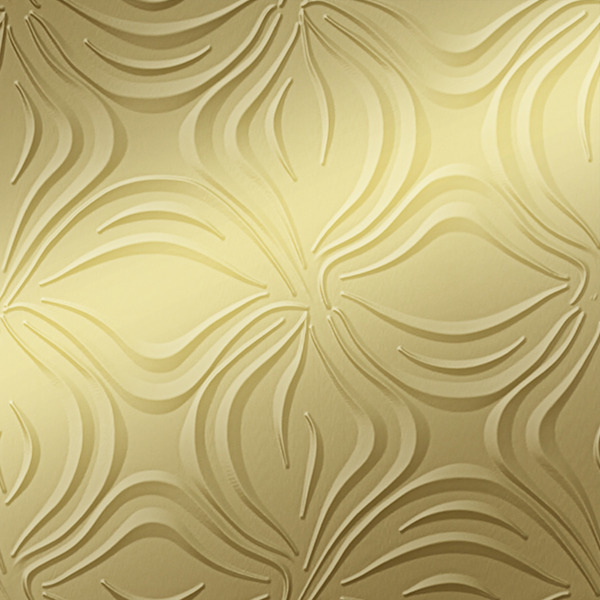 Dimensional Panels Dimension Walls Blossom Metallic Gold