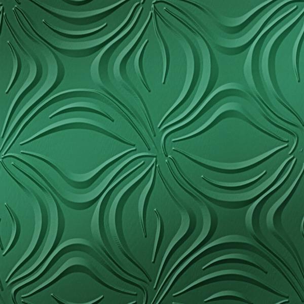 Dimensional Panels Dimension Walls Blossom Metallic Green