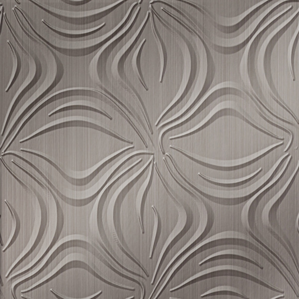 Dimensional Panels Dimension Walls Blossom Brushed Nickel