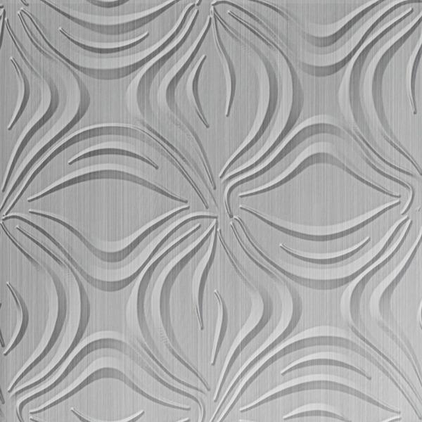 Dimensional Panels Dimension Walls Blossom Brushed Aluminum