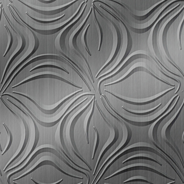 Vinyl Wall Covering Dimension Walls Blossom Brushed Stainless
