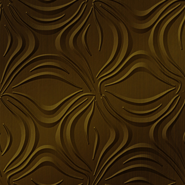 Dimensional Panels Dimension Walls Blossom Rubbed Bronze