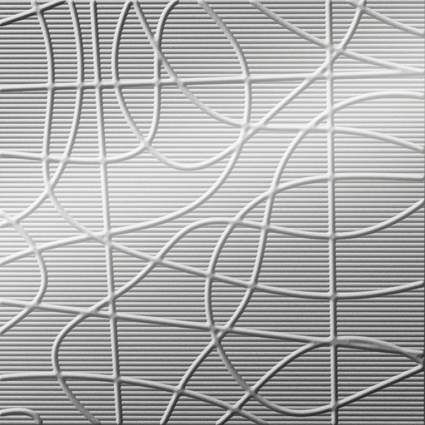 Dimensional Panels Dimension Walls Wired Metallic Silver
