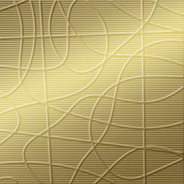 Dimensional Panels Dimension Walls Wired Metallic Gold