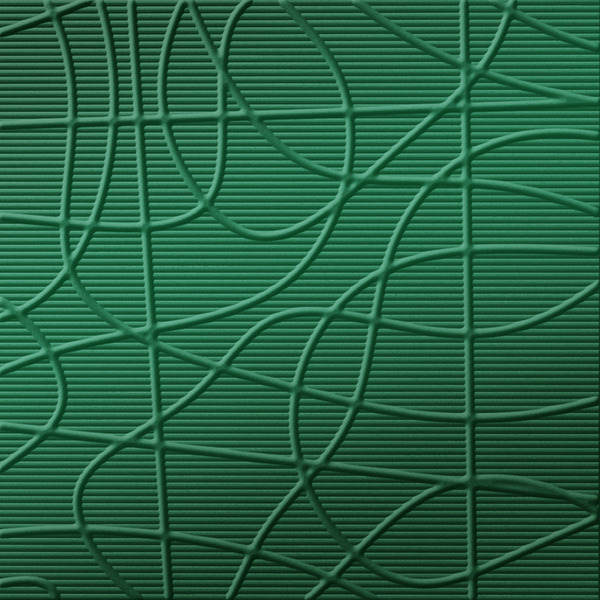 Dimensional Panels Dimension Walls Wired Metallic Green