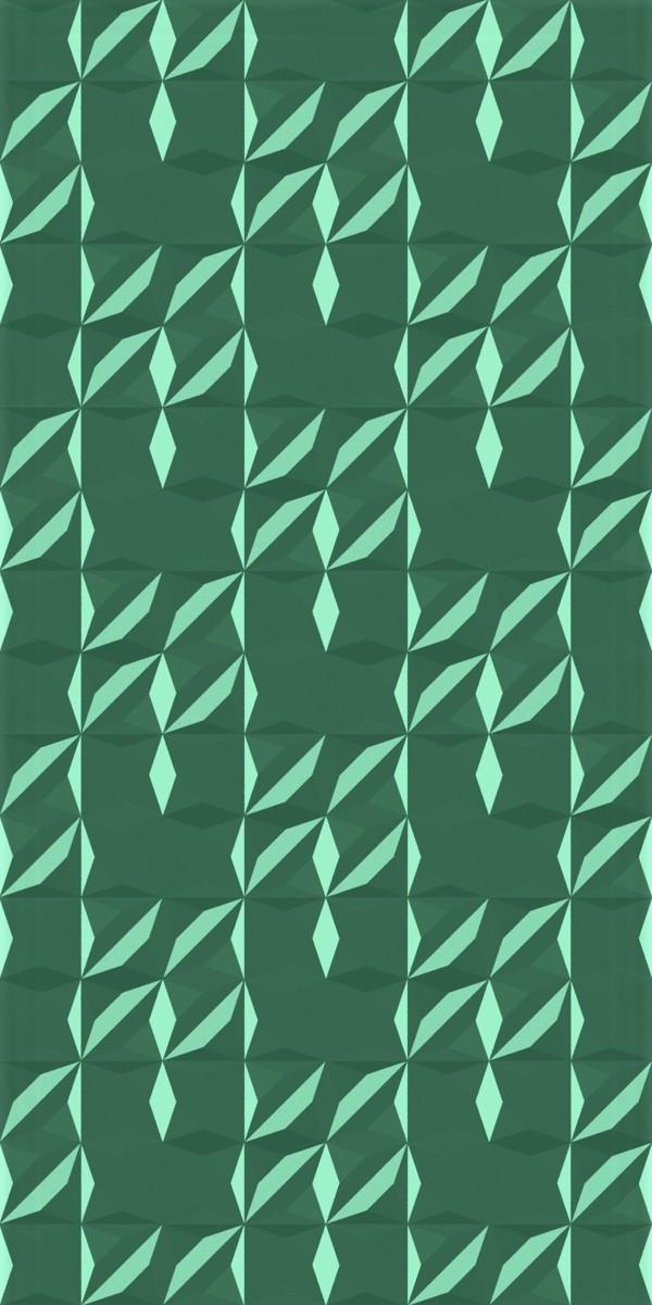 Vinyl Wall Covering Dimension Walls Flower Metallic Green