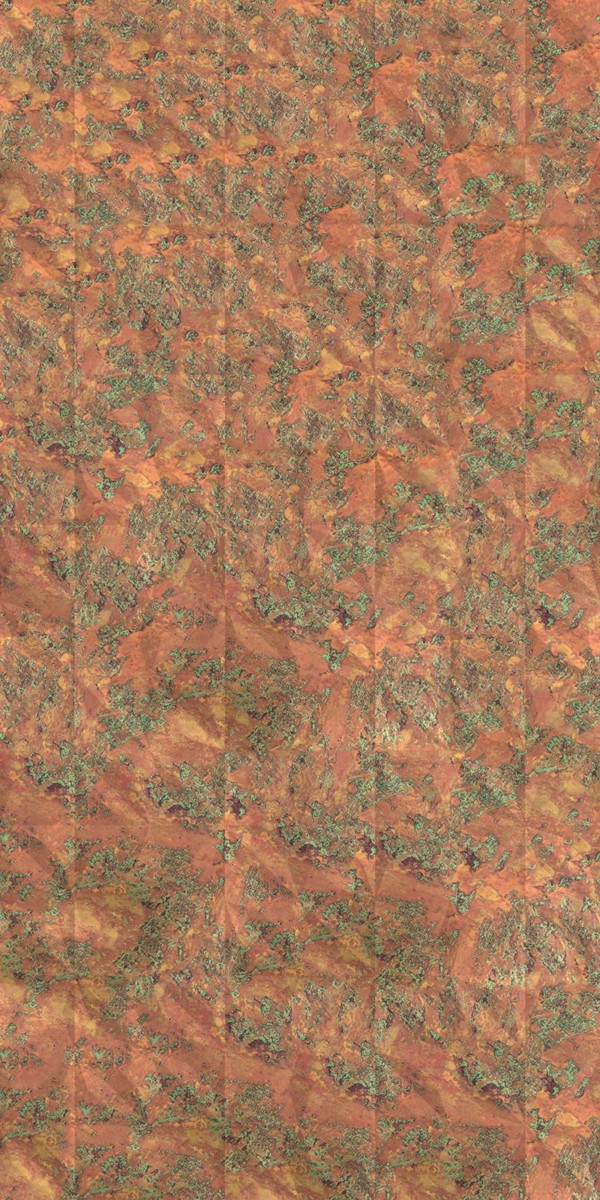Vinyl Wall Covering Dimension Walls Flower Copper Patina