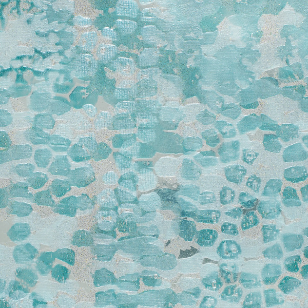 Vinyl Wall Covering Handcrafted Celestine Aquamarine