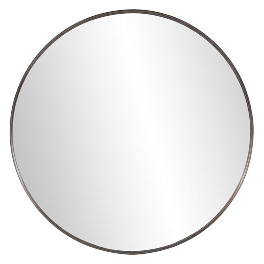 Industrial Industrial Steele Brass Round Mirror