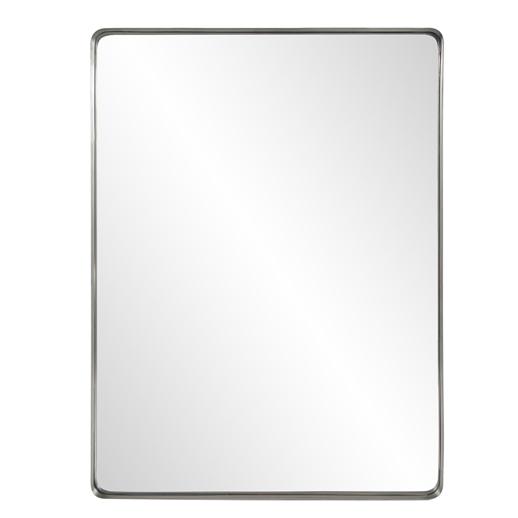 Industrial Industrial Steele Silver Mirror
