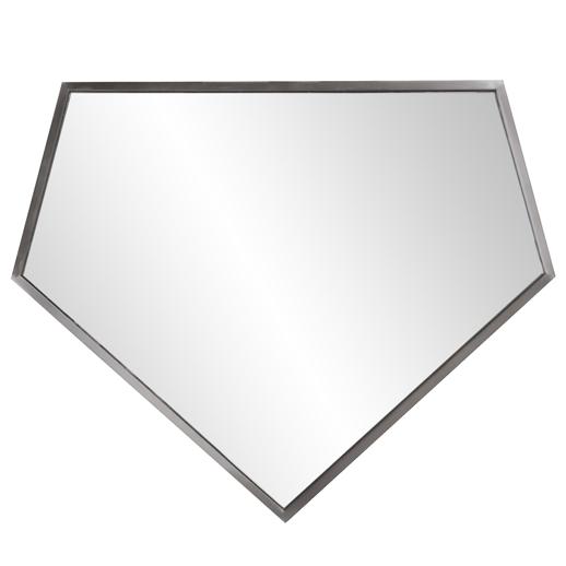 Industrial Industrial Quintin Silver Mirror