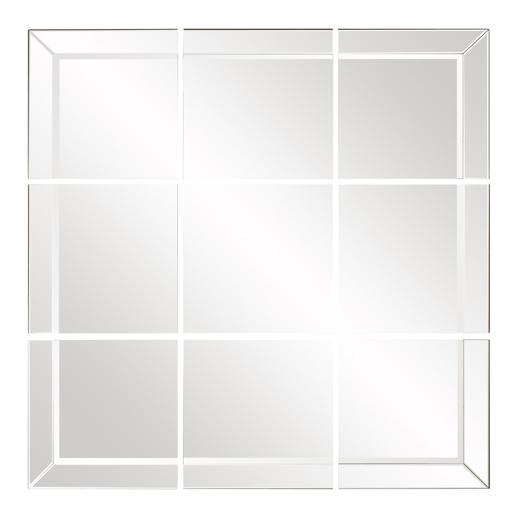 Contemporary Contemporary Grid Mirror