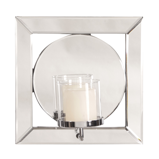 Contemporary Contemporary Lula Mirror with Candle Holder