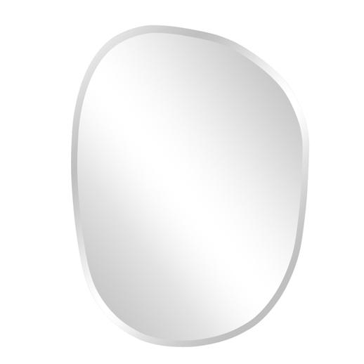 Contemporary Contemporary Frameless Asymmetrical Mirror