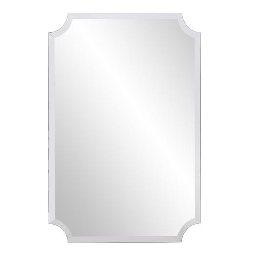 Contemporary Contemporary Scalloped Frameless Mirror