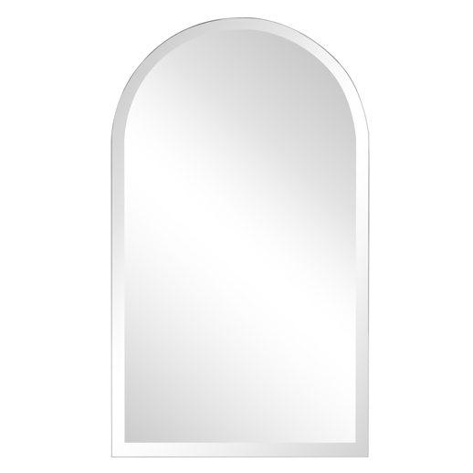 Contemporary Contemporary Frameless Arched Mirror